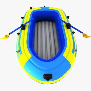 cartoon inflatable boat 3d model