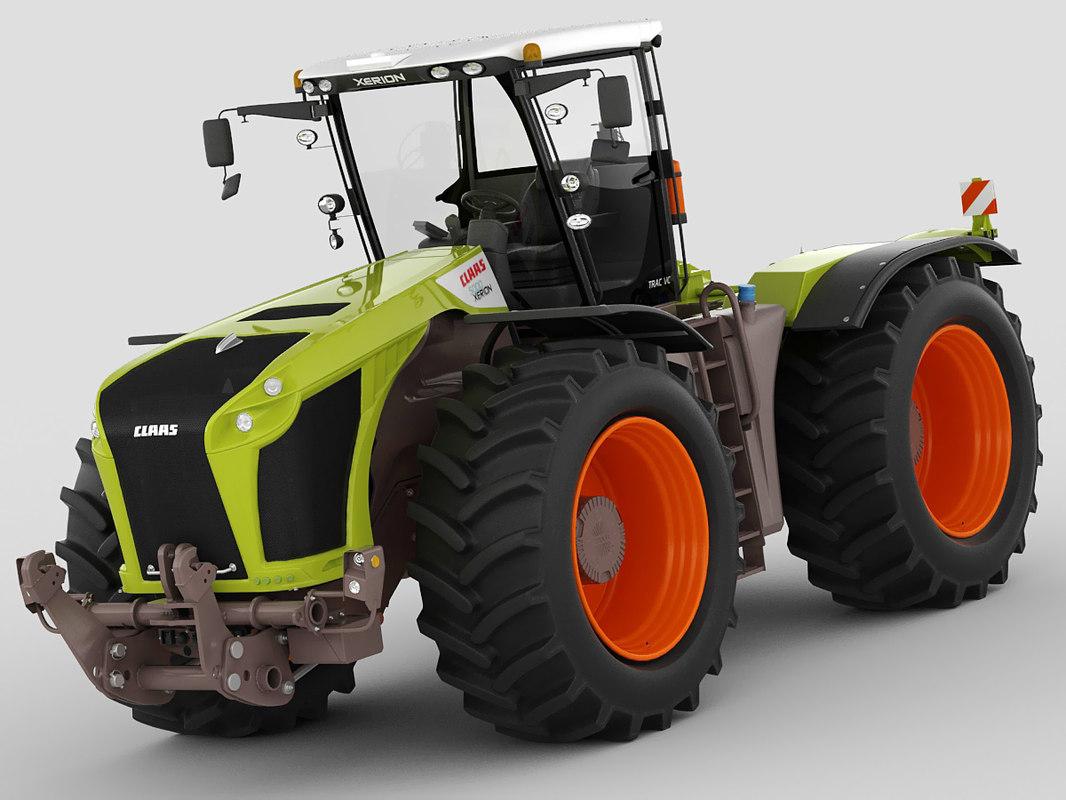 claas xerion tractor 3d c4d