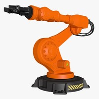 3d model industrial robot modeled