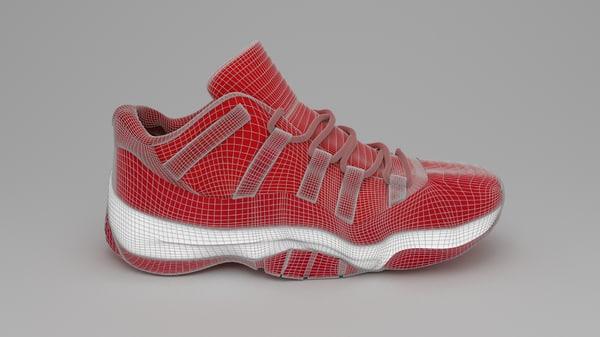3d air jordan 11 shoe model