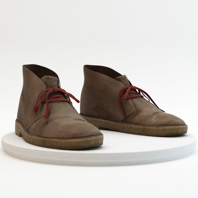 - clarks desert boots 3d model