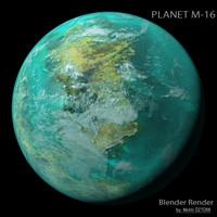 planet m-16 m 3d max