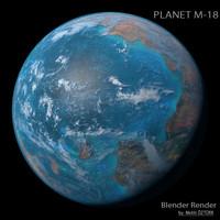 planet m-18 m 3d model