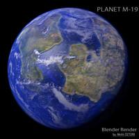 3d planet m-19 m model