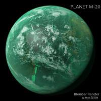 planet m-20 m 3d model