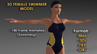 3D Female Swimmer Model