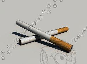 marlboro 2014 cigarette 3d model