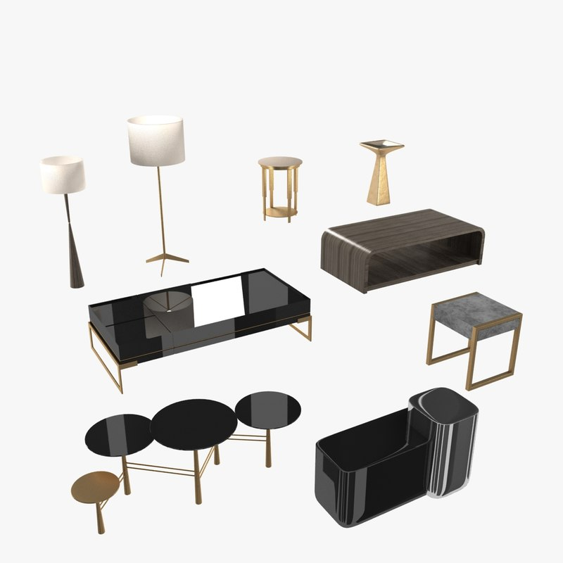 3ds lamps tables furniture collections