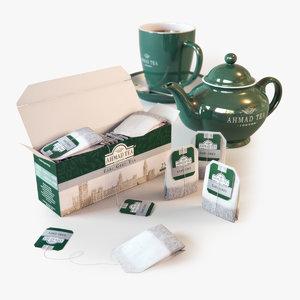 tea bag 3d max
