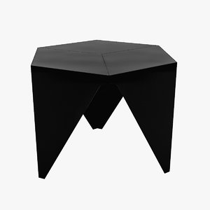 noguchi prismatic table furniture 3d max