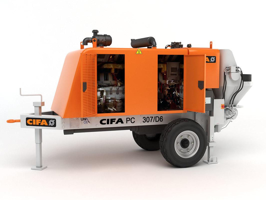 max portable concrete pump cifa