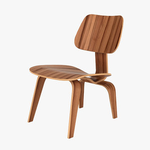 3d charles eames dcw chair model