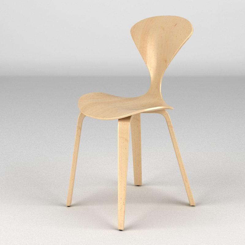 norman cherner chair 3d model