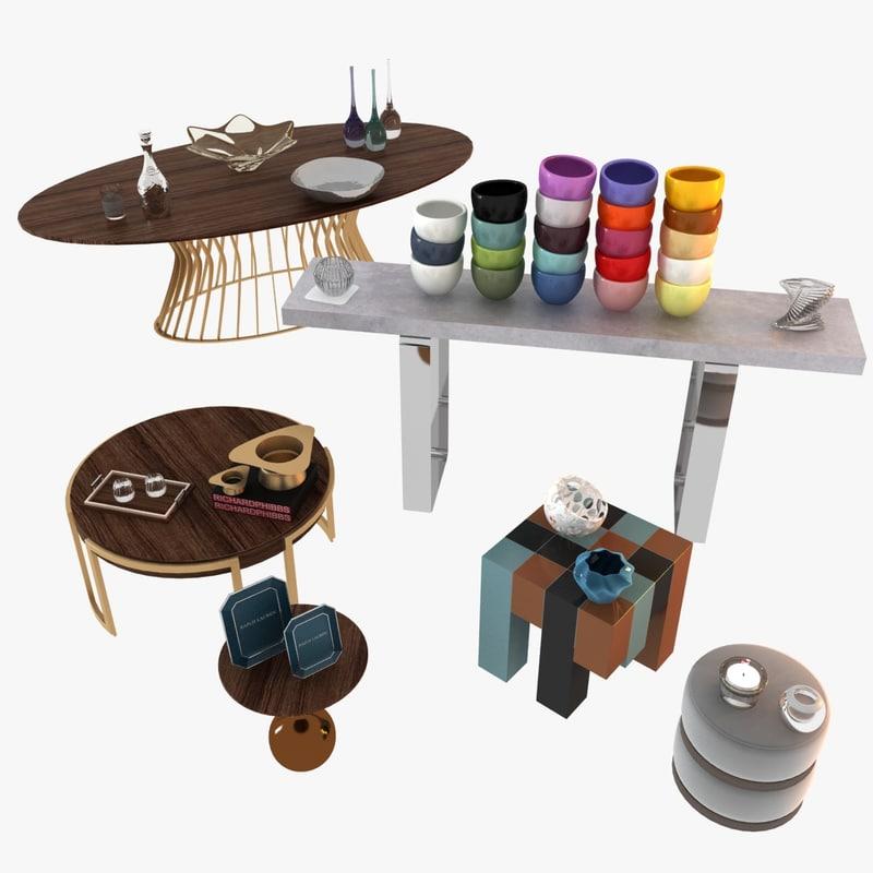 max living room decorative set