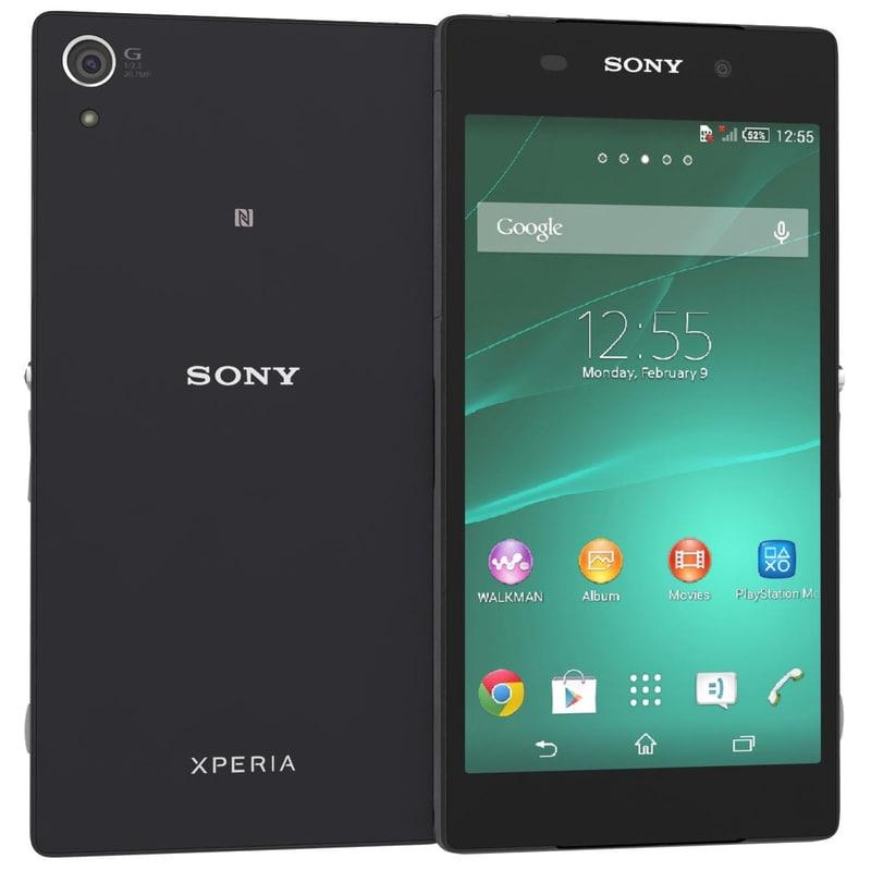 3d model sony xperia z2 black