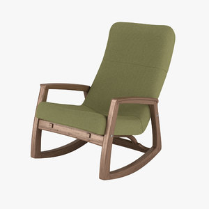 3ds max edvard danish design rocking chair