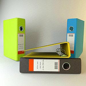 pack binders 3d model