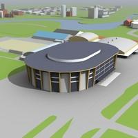 building arena 3d model