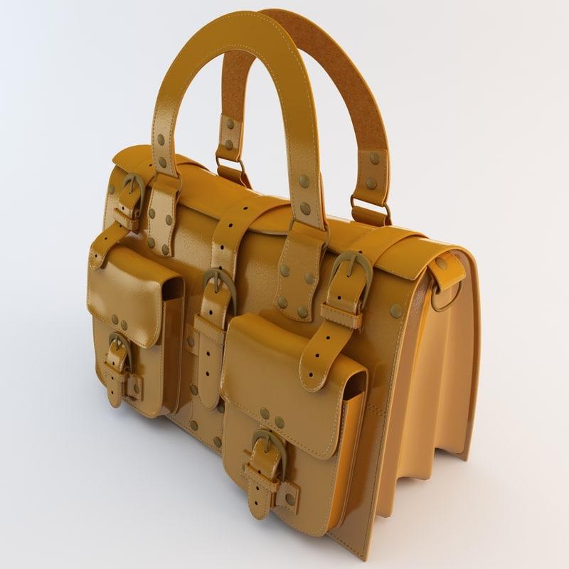 handbag accessories 3d model