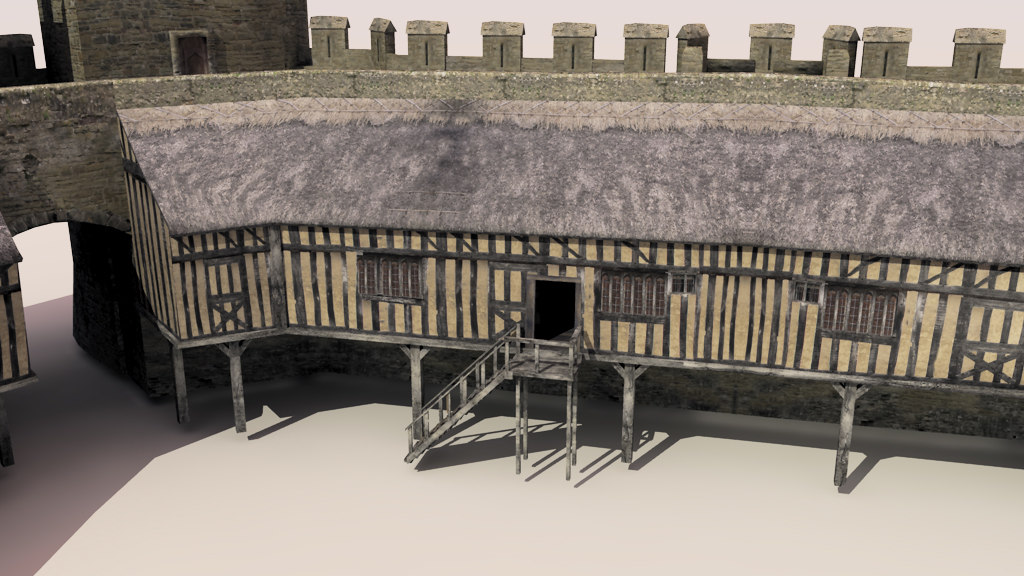 rhuddlan medieval castle 3d model