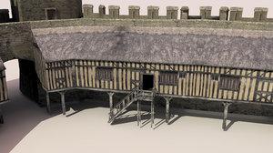 rhuddlan medieval castle 3d model