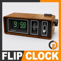 Retro Style Alarm Flip Clock