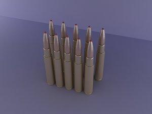 barrett bullet 3d model