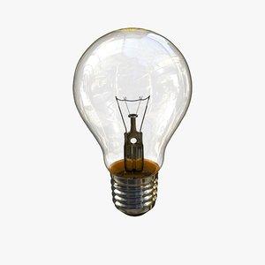 incandescent lightbulb lighting 3d model