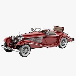 mercedes benz 540k special 3d model