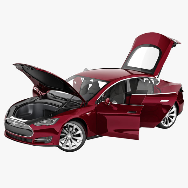 tesla s 2014 rigged car 3d model