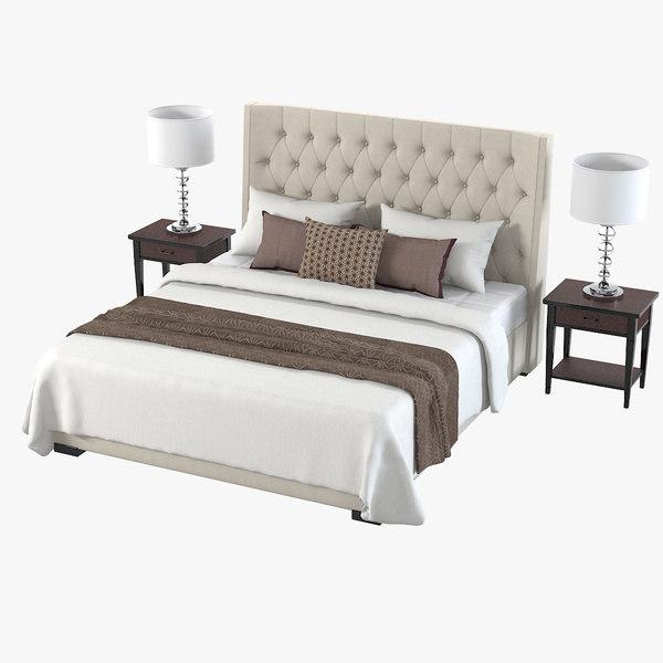 meridiani bedroom set 3d max