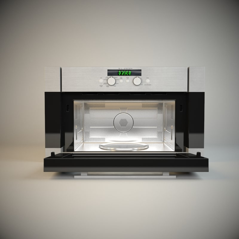 3dsmax microwave oven