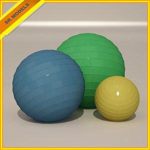 3d pilates balls exercise