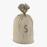 3d money sack model