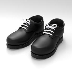 3d model kid shoes