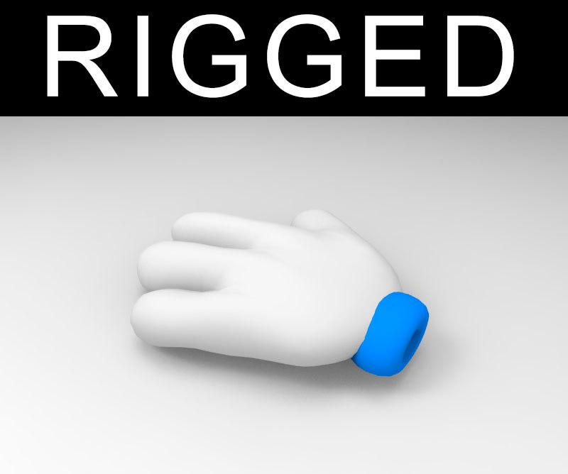 max cartoon hand rigged