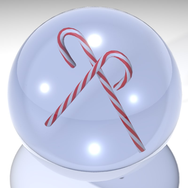 marble candy canes 3d model