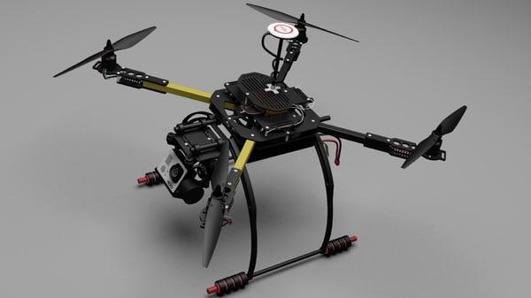 quad copter 3d max
