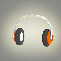 3d max cartoon headphones