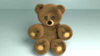 3d furry bear model