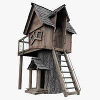 wooden house fbx