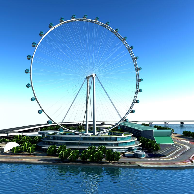 3d flyer singapore building model