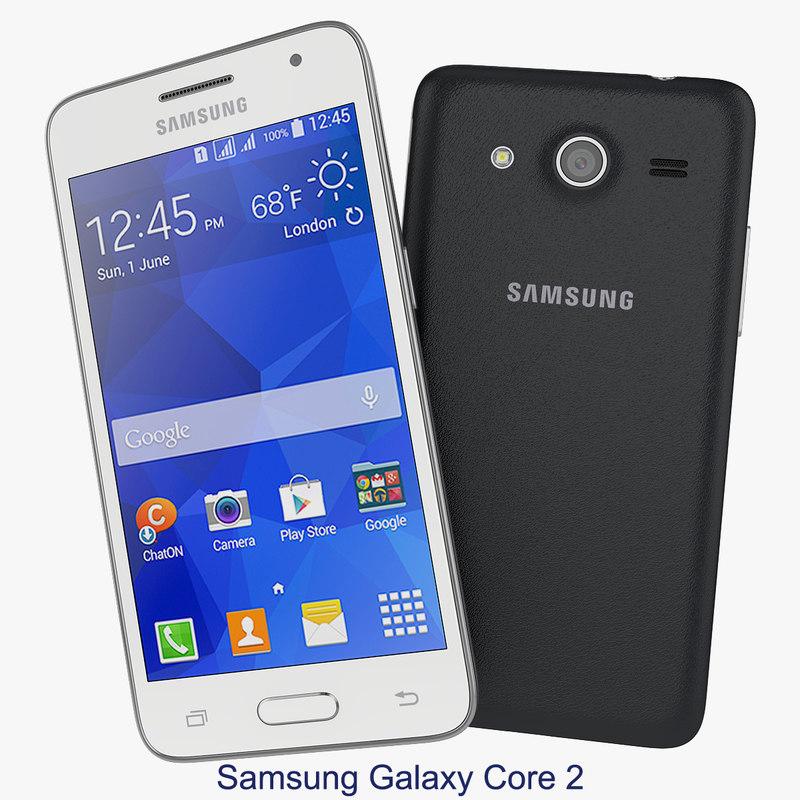 3d 3ds smartphone samsung galaxy core