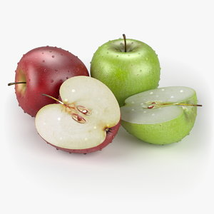 3d realistic apple fruit real model
