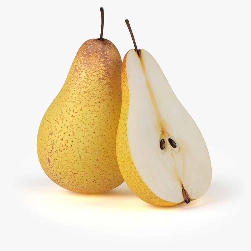 3d model realistic pear fruit real
