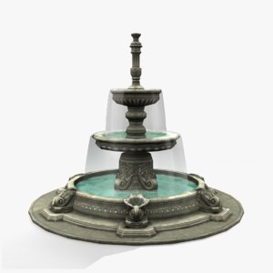 3d model fountain ornate