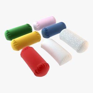 3d model cylinder pillows