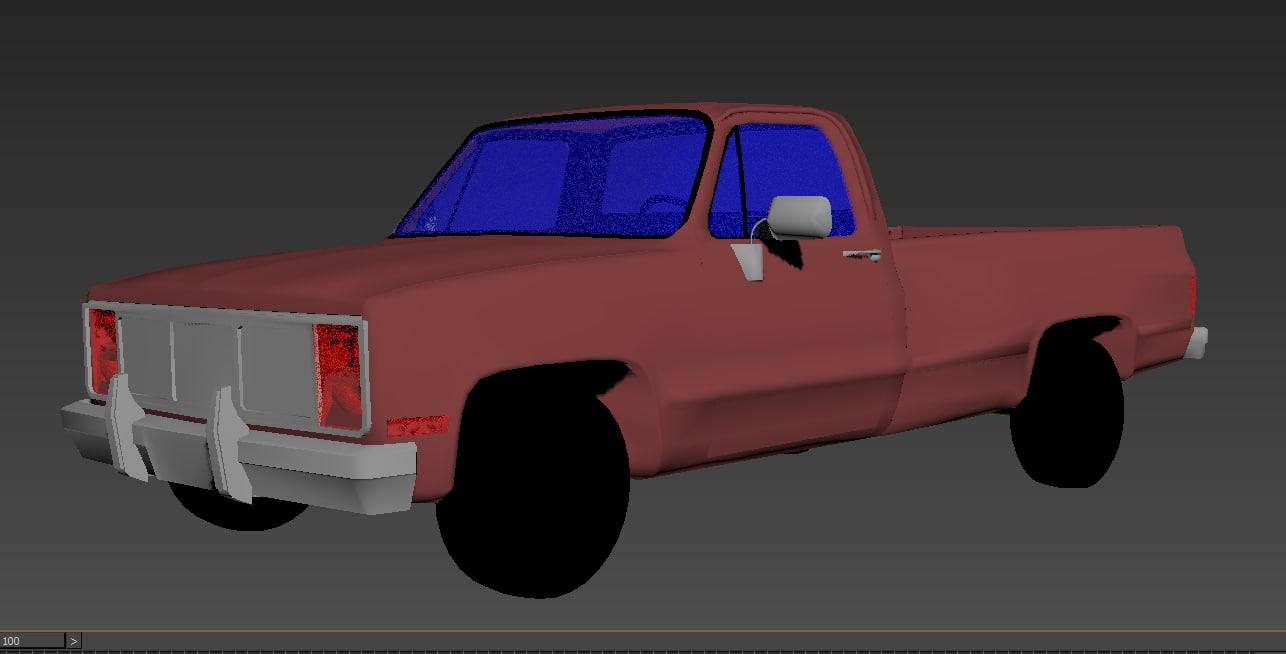 3d truck interior