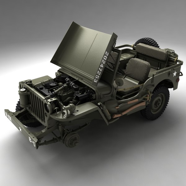 army willys jeep 3d max