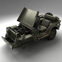 3ds max army willys jeep